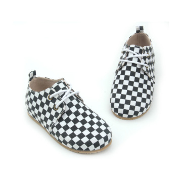 2018 Fashion Lattice Canvas Kids Oxford Shoes