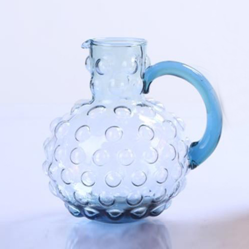 Br 9111 2unique Design Colored Glass Water Jug With Side Handle