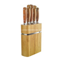 wooden handle kitchen knives