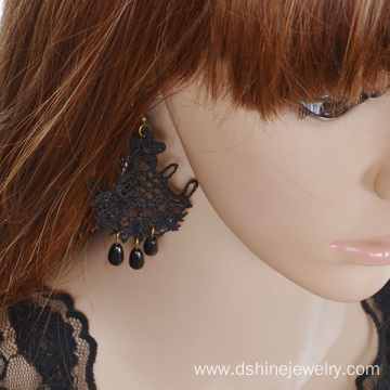 Hollow Lace Flower Shaped Earring Retro Drop Pretty Earrings