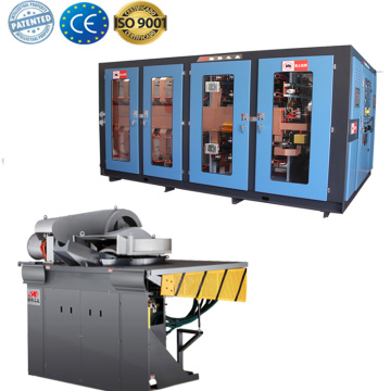 Steel shell electric crucible copper melting furnace