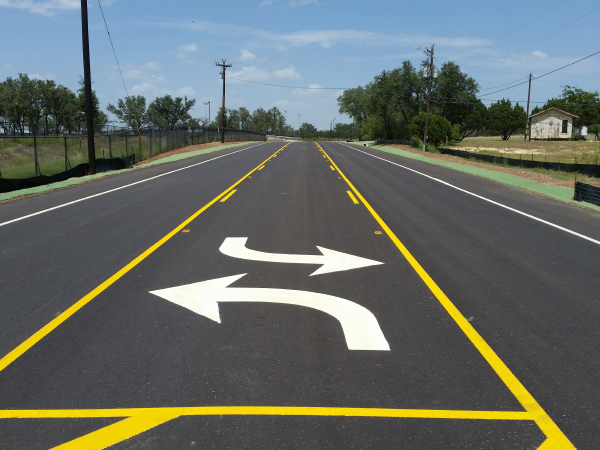 thermoplastic-road-markings-with-coated-glass-beads
