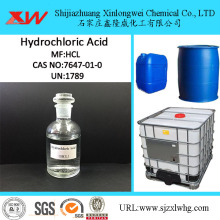 Factory Price for Industrial Water Treatment Chemicals Best Price Hydrochloric Acid from 31% to 37% supply to United States Suppliers