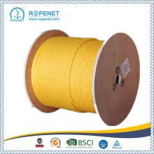 China for 3 Strands Twist PP Split Film Rope UV Protection PP Rope 3 Strands Twisted Rope export to Uganda Wholesale