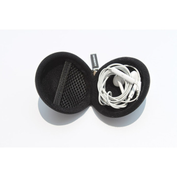 Hardshell Earphone case with soft lining mesh pocket