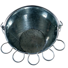 China Gold Supplier for China 5Qt Ice Bucket,Galvanized Ice Bucket,Bar Ice Bucket Supplier Beer Ice bucket with glass holder handle supply to India Importers
