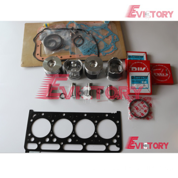 KUBOTA V2403 rebuild overhaul kit gasket bearing piston