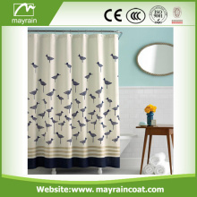 Bathroom Design Hook Polyester Fabric Shower Curtain