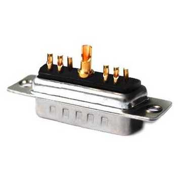 Power D-SUB Plug Straight 11W1 with solder cup