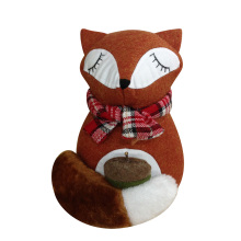 Christmas door stopper with cute fox shape