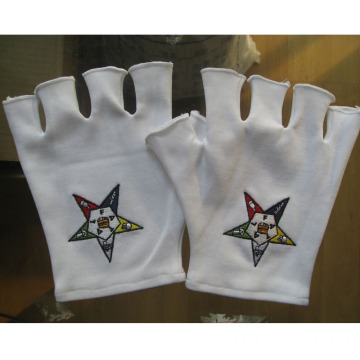 Half finger Embroidery Coton Gloves