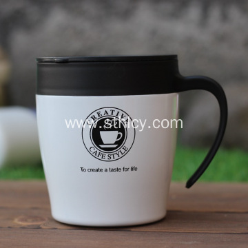New Stainless Steel Fashion Slider Handle Mug