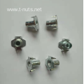 Half thread Carbon steel Zinc plated Nut