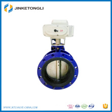 Flange type motorized butterfly valve AC220v electric butterfly valve