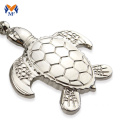 Metal turtle keychain or key chain keyring