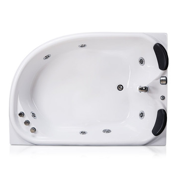 2 Person Acrylic Whirlpool Corner Tub in White