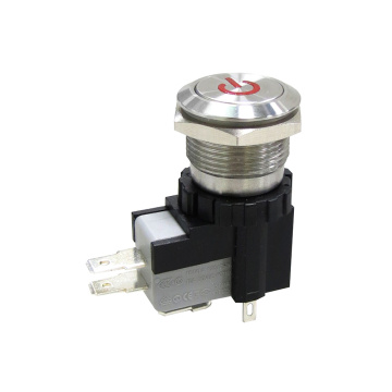 High Current 19MM Anti-vandal Pushbutton Metal Switch