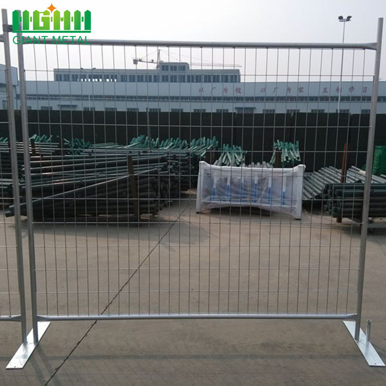 Hot Sale Galvanized Temporary Fence for Canada Market
