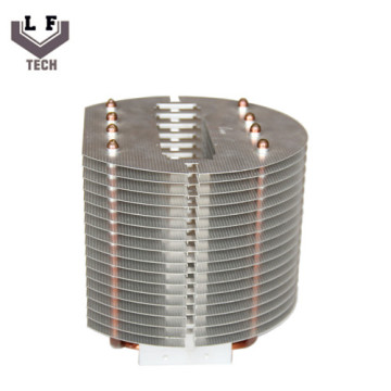 OEM Aluminum Copper Pipe Heatsink