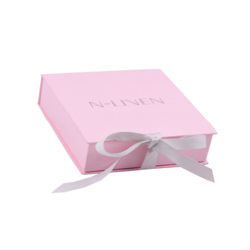 Pink Macarons Chocalate Gift Box With Ribbon Closure