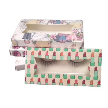 Custom Baby Pink Paper Eyelash Box