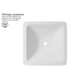 Counter top wash basin WB005 of solid surface-matte white-585x340x120mm