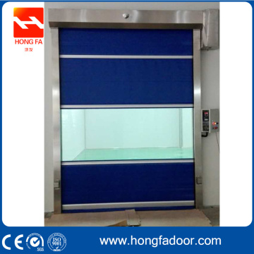 Internal Kecepatan Tinggi Rolling Warehouse PVC Door