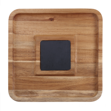 Wooden pastry serving tray