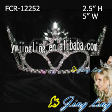 Full Round Pageant Elsa Crowns For Gift