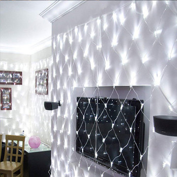 LED Flashing Net Mesh Fairy String Licht
