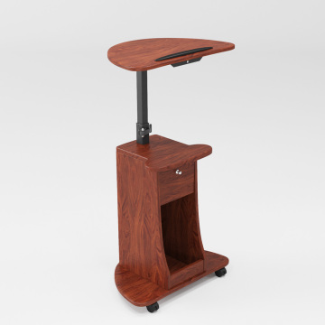 Height-Adjustable Mobile Stand Rolling Wheel Laptop Cart