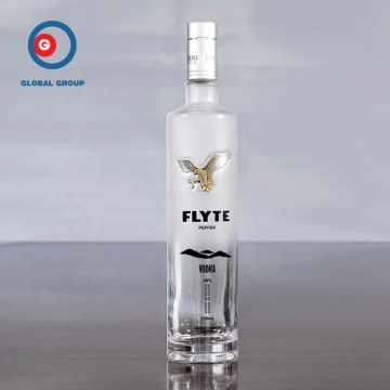 750ml frosted vodka bottle