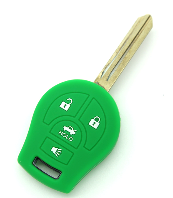 Nissan 4 buttons silicone car key case