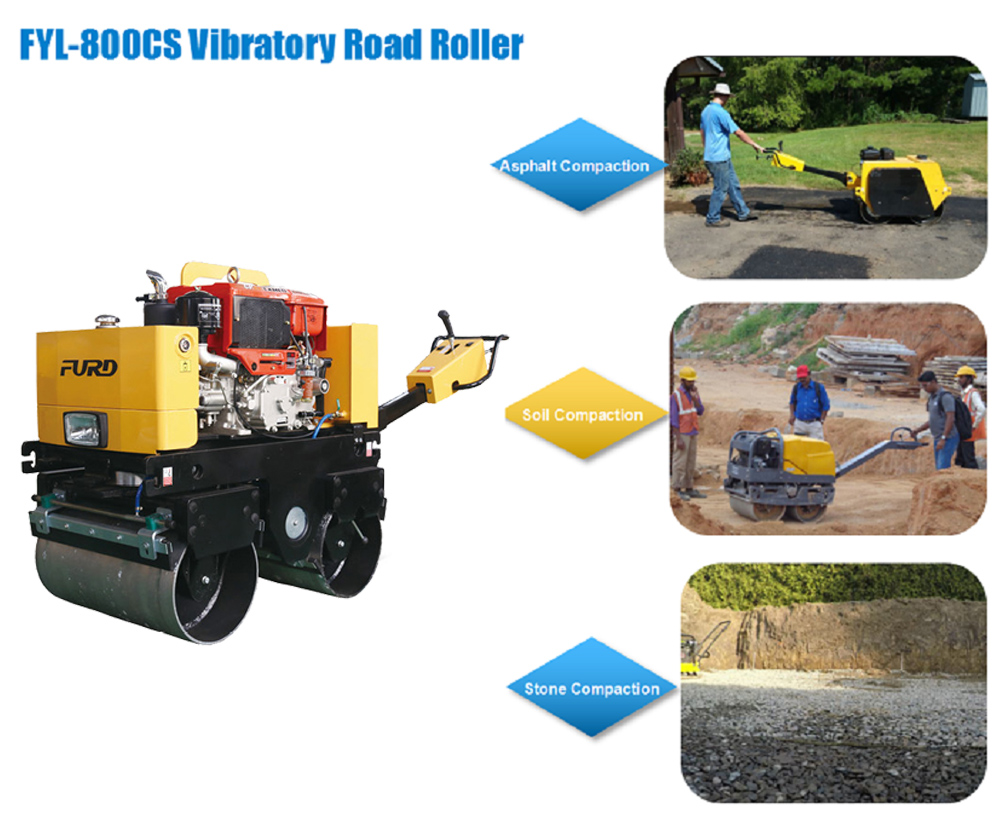 Mini Double Drum Roller Compactor