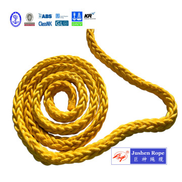Polyester Cover 12-Strand UHMWPE Marine Towing Rope