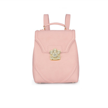 Large capacity simple flower decorative backpack
