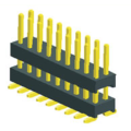 2.00mm Pin Header Dual Row Double Plastic SMT