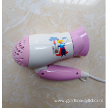 New Fashion 1200W Foldable Lovely Kids Hair Dryer
