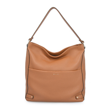 Spring Bag Natural Leather Triangle Hobo Bag Tan