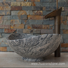 Top for China Natural Stone Sink,Marble Sink Vanity,White Marble Sink Supplier Juparana multicolor grey granite sink supply to India Factories