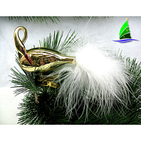 gold clear glass christmas flamingo tree ornaments