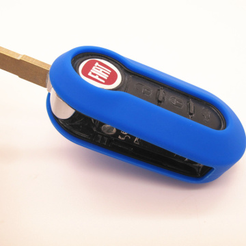 Silicone Car Remote Key Holder voor Fiat 500