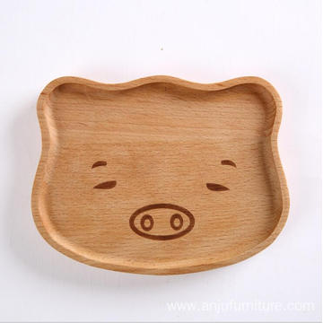 New design tableware black walnut wholesale cartoon wooden plates