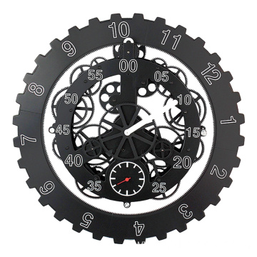 Hot sale Factory for Offer 18 Inches Wall Clock,Big Black Clock,Oversized Modern Wall Clock From China Manufacturer 18 inch big black gear wall clock supply to Armenia Manufacturer
