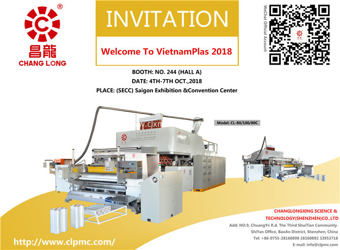 Changlong stretch film equipment-VietnamPlas 2018