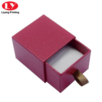 Drawer Slide Jewelry Box with Foam for Ring