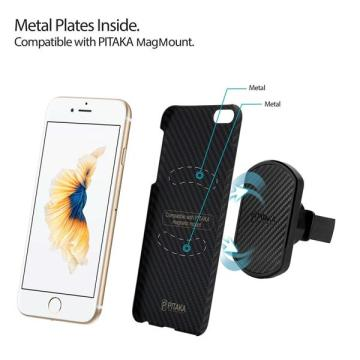 Slim Fit iPhone6S PITAKA Magcase Aramid Fiber 4.7k