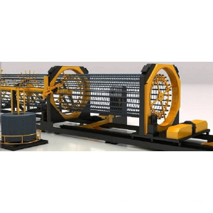 Concrete pile wire cage making machine for construction