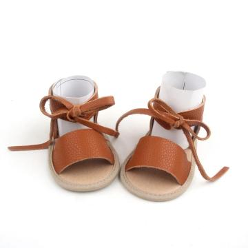 Wholesale Summer Cow Leather Baby Sandals Shoes