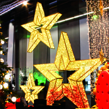 Outdoor Street Decorative  3D Star Motif